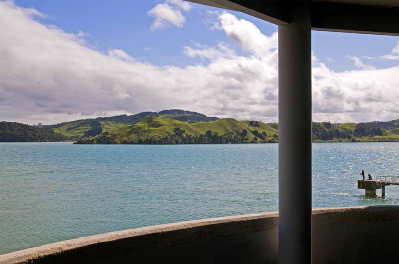 Raglan Accommodation at the Silos. View of Raglan Harbour.