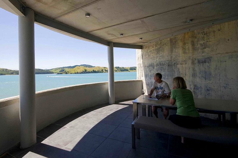 Raglan Accommodation at the Silos. View from the balcony.